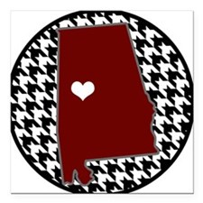 "Roll Tide in my Heart Square Car Magnet 3"" x 3"""