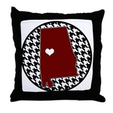 Roll Tide in my Heart Throw Pillow