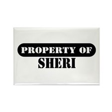 Property of Sheri Rectangle Magnet