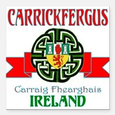 Carrickfergus Coat of Arms NEW.png Square Car Magn