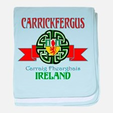 Carrickfergus Coat of Arms NEW.png baby blanket