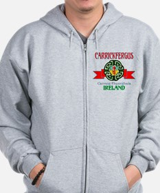 Carrickfergus Coat of Arms NEW.png Zip Hoodie