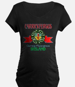 Carrickfergus Coat of Arms NEW.png Maternity T-Shi