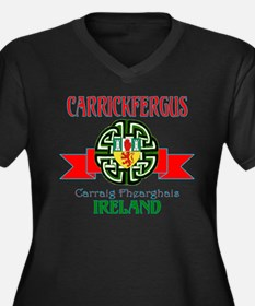 Carrickfergus Coat of Arms NEW.png Plus Size T-Shi