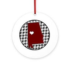 Heart of Alabama Ornament (Round)