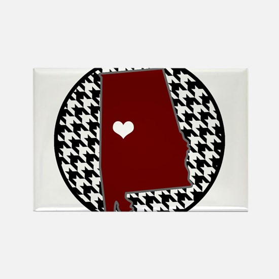 Heart of Alabama Rectangle Magnet
