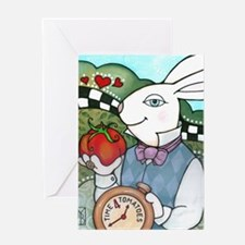 Rabbit Loves Tomatoes Greeting Card