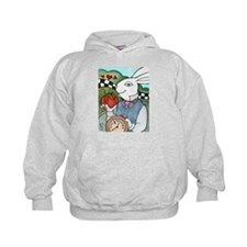 Rabbit Loves Tomatoes Hoodie