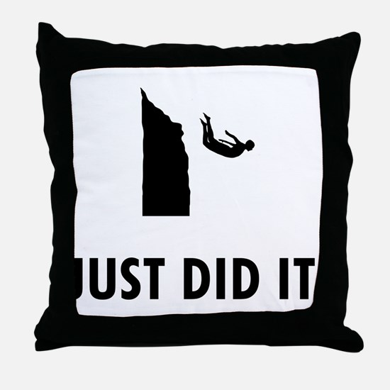 Cliff Diving Throw Pillow