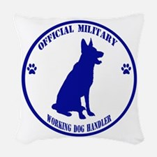 Blue Official Military Working Dog Handler Woven T