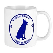 Blue Official Military Working Dog Handler Small Mug