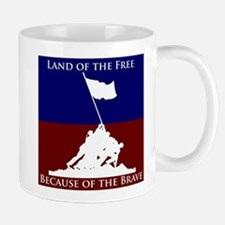Land Of The Free Because Of The Brave Soldiers Mug