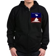 Land Of The Free Because Of The Brave Soldiers Zip Hoodie