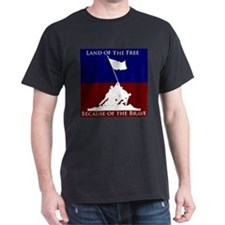 Land Of The Free Because Of The Brave Soldiers T-S