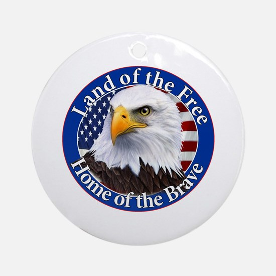 Land Of The Free Home Of The Brave Eagle Ornament