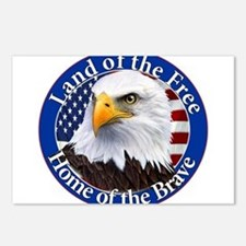 Land Of The Free Home Of The Brave Eagle Postcards