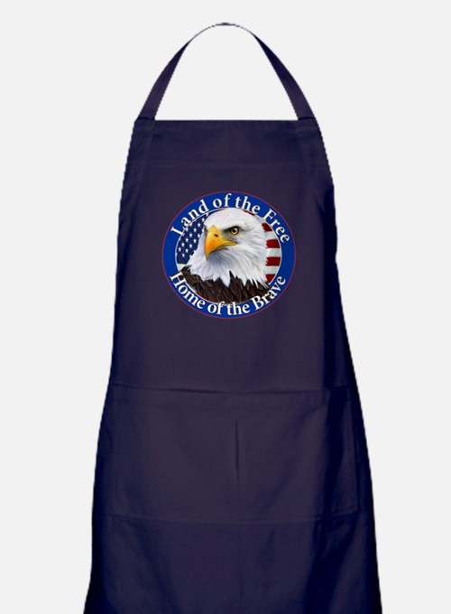 Land Of The Free Home Of The Brave Eagle Apron (da