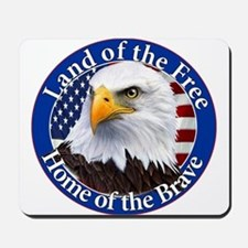 Land Of The Free Home Of The Brave Eagle Mousepad