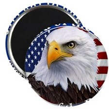 """Land Of The Free Home Of The Brave Eagle 2.25"""" Mag"""