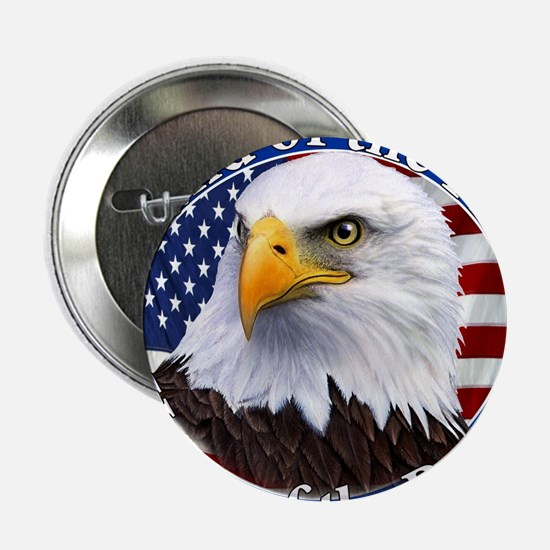 """Land Of The Free Home Of The Brave Eagle 2.25"""" But"""