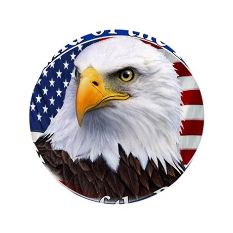 """Land Of The Free Home Of The Brave Eagle 3.5"""" Butt"""