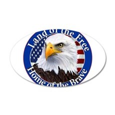 Land Of The Free Home Of The Brave Eagle Wall Deca