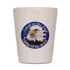 Land Of The Free Home Of The Brave Eagle Shot Glas