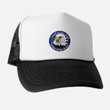 Land Of The Free Home Of The Brave Eagle Trucker Hat