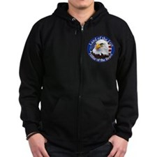 Land Of The Free Home Of The Brave Eagle Zip Hoodie