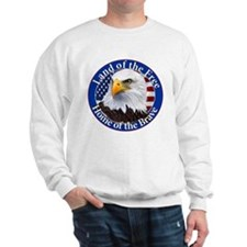 Land Of The Free Home Of The Brave Eagle Sweatshir
