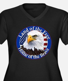 Land Of The Free Home Of The Brave Eagle Plus Size