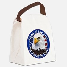 Land Of The Free Home Of The Brave Eagle Canvas Lu