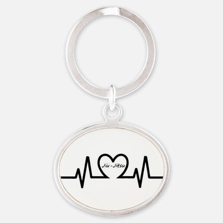 Jiu-Jitsu Heartbeat Keychains
