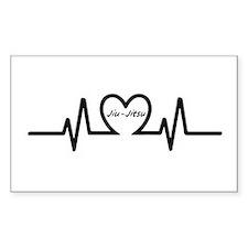 Jiu-Jitsu Heartbeat Decal