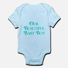 Our Beautiful Baby Boy-lt blue Body Suit