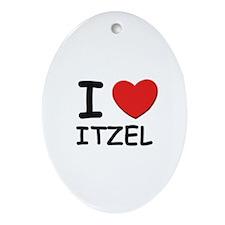 I love Itzel Oval Ornament