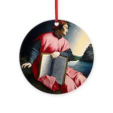 Allegorical Portrait of Dante Ornament (Round)
