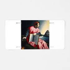 Allegorical Portrait of Dante Aluminum License Pla
