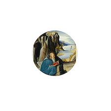 Alvise Vivarini - Saint Jerome Reading Mini Button