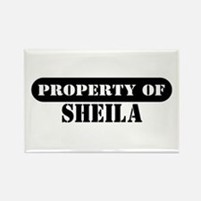 Property of Sheila Rectangle Magnet