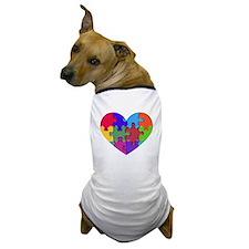 Autism Heart Puzzle Dog T-Shirt
