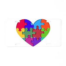 Autism Heart Puzzle Aluminum License Plate