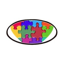 Autism Heart Puzzle Patches