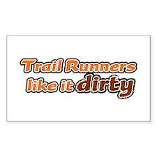 Trail Runners like it Dirty - Orange Dirty Decal