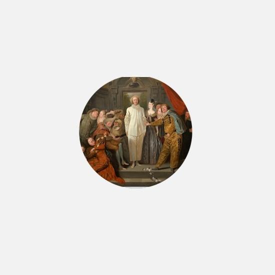 Antoine Watteau - The Italian Comedians Mini Butto