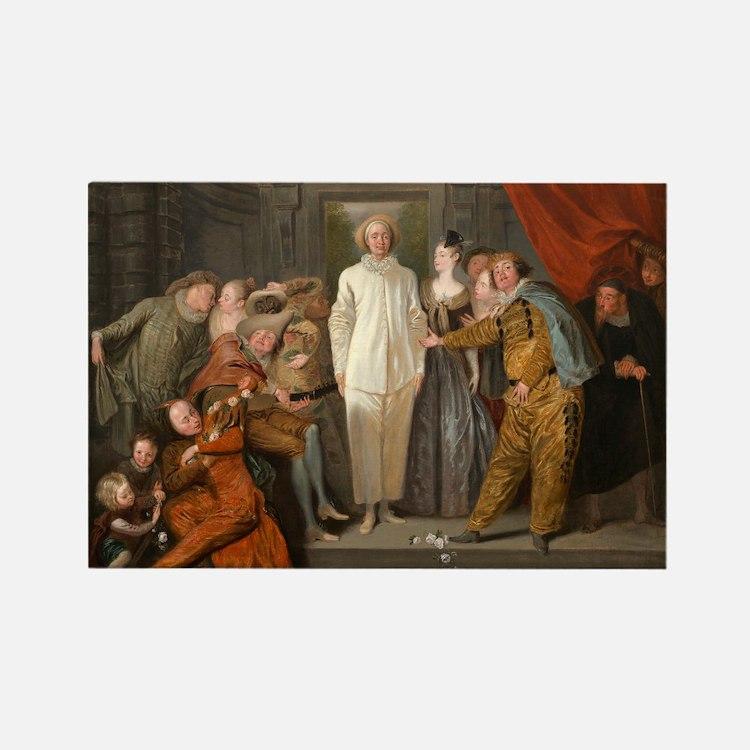 Antoine Watteau - The Italian Comedians Rectangle