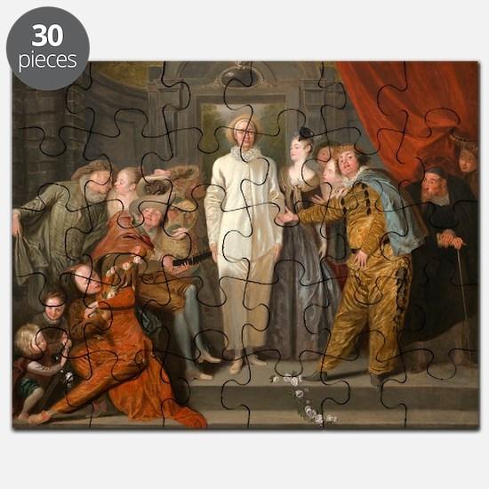 Antoine Watteau - The Italian Comedians Puzzle