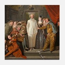 Antoine Watteau - The Italian Comedians Tile Coast
