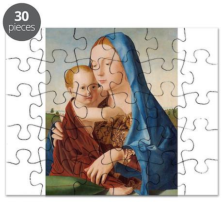Antonello da Messina - Madonna and Child Puzzle