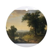 Asher Brown Durand - A Pastoral Scene Ornament (Ro